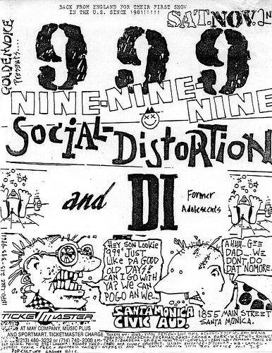 999-Social Distortion-DI @ Santa Monica Civic Auditorium Santa Monica CA 11-2-85