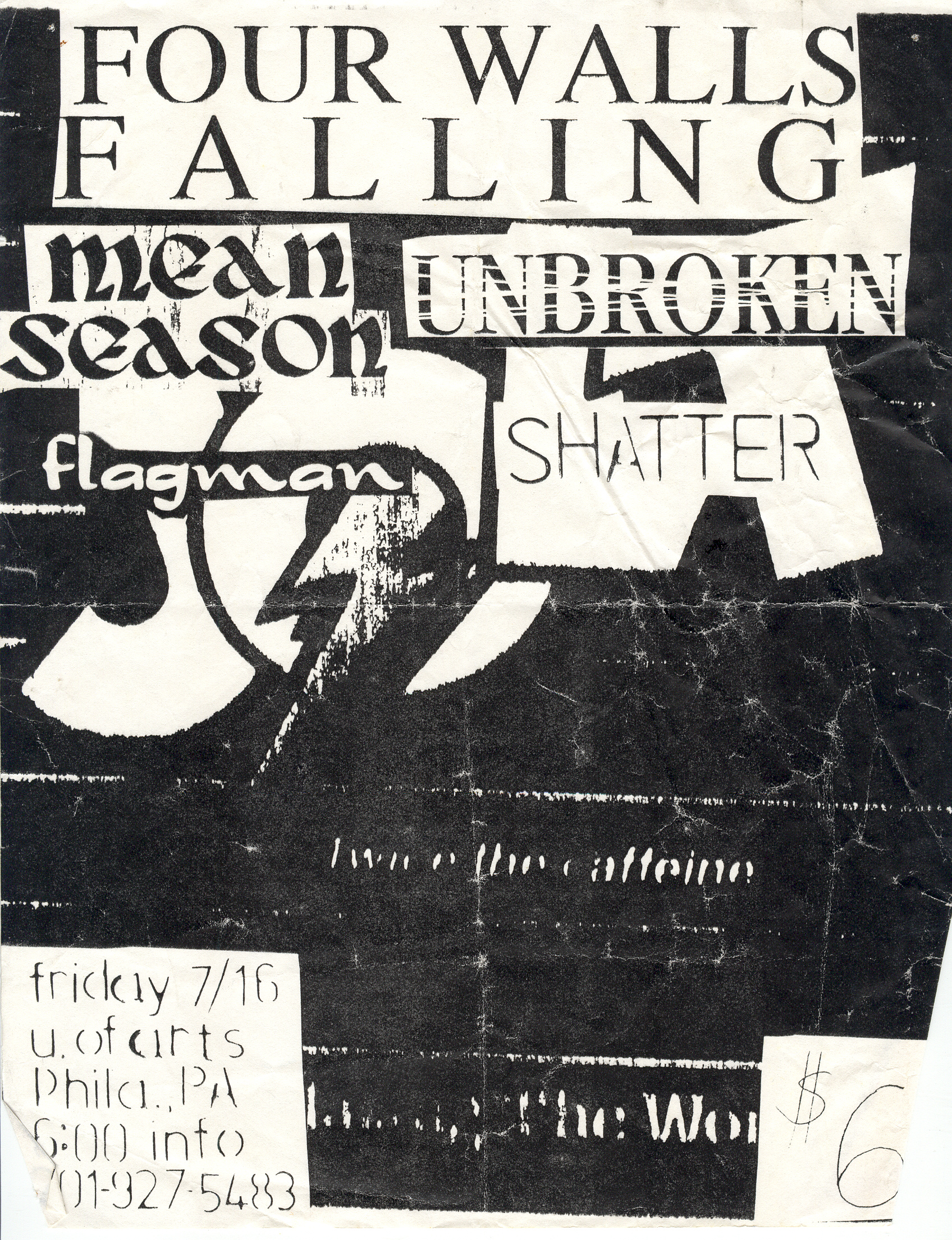 Four Walls Falling-Unbroken-Etc @ U Of Arts Philadelphia PA 7-16-93