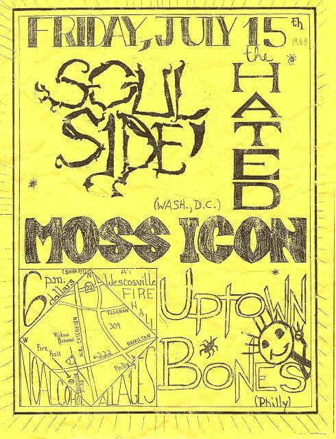 Soulside-The Hated-Moss Icon @ Uptown Bones Philadelphia PA 7-15-88