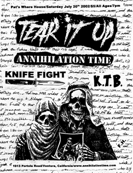 Annihilation Time-Knife Fight-Tear It Up @ Pat's Where House Ventura CA 7-20-02