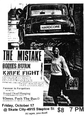 Knife Fight-Internal Affairs-Etc @ Skate City Las Vegas NV 10-17-03