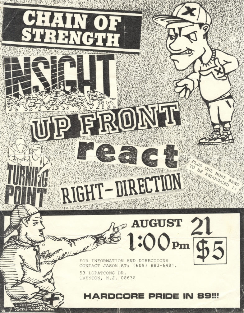 Chain Of Strength-Turning Point-Insight-Up Front-Right Direction @ City Gardens Trenton NJ 8-21-89