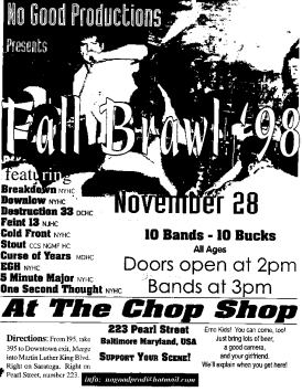 Breakdown-Downlow-Etc @ The Chop Shop Baltimore MD 11-28-98