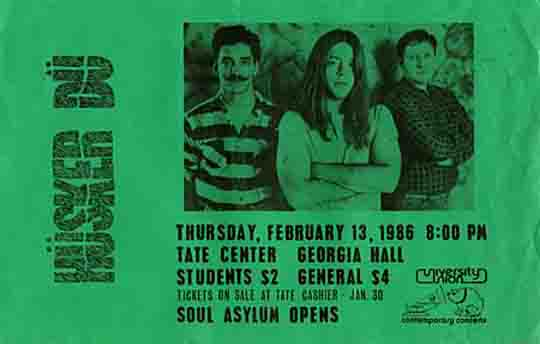Husker Du-Soul Asylum @ Tate Center Athens GA 2-13-86