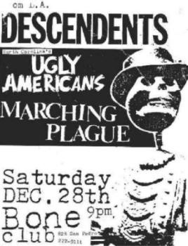 Descendents-Ugly Americans-Hate Plague @ Bone Club San Pedro CA 12-28-85