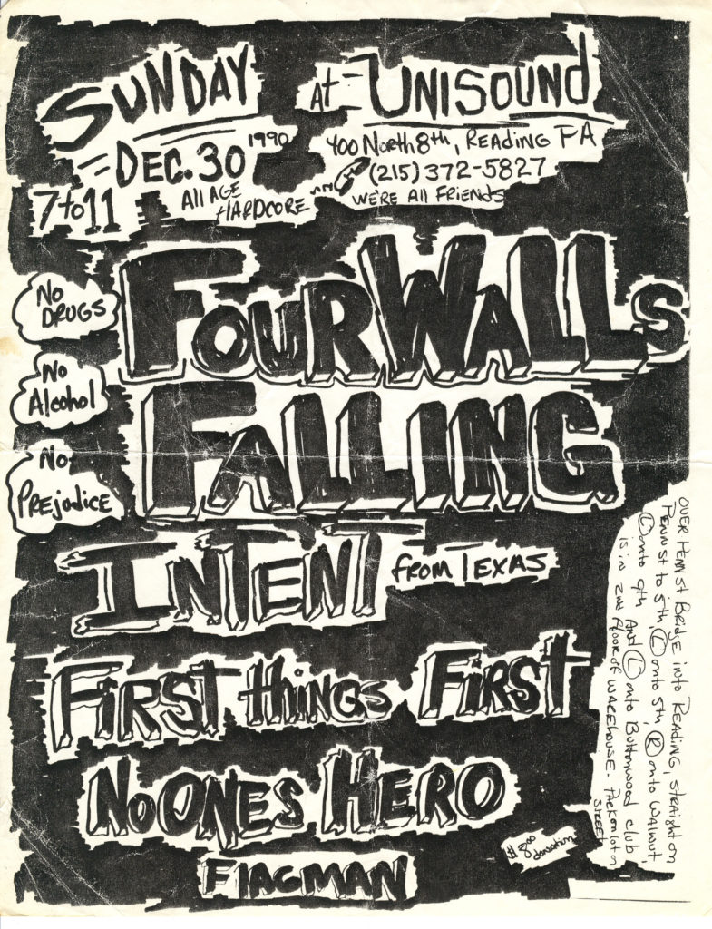 Four Walls Falling-Flagman-Etc @ Unisound Reading PA 12-30-90