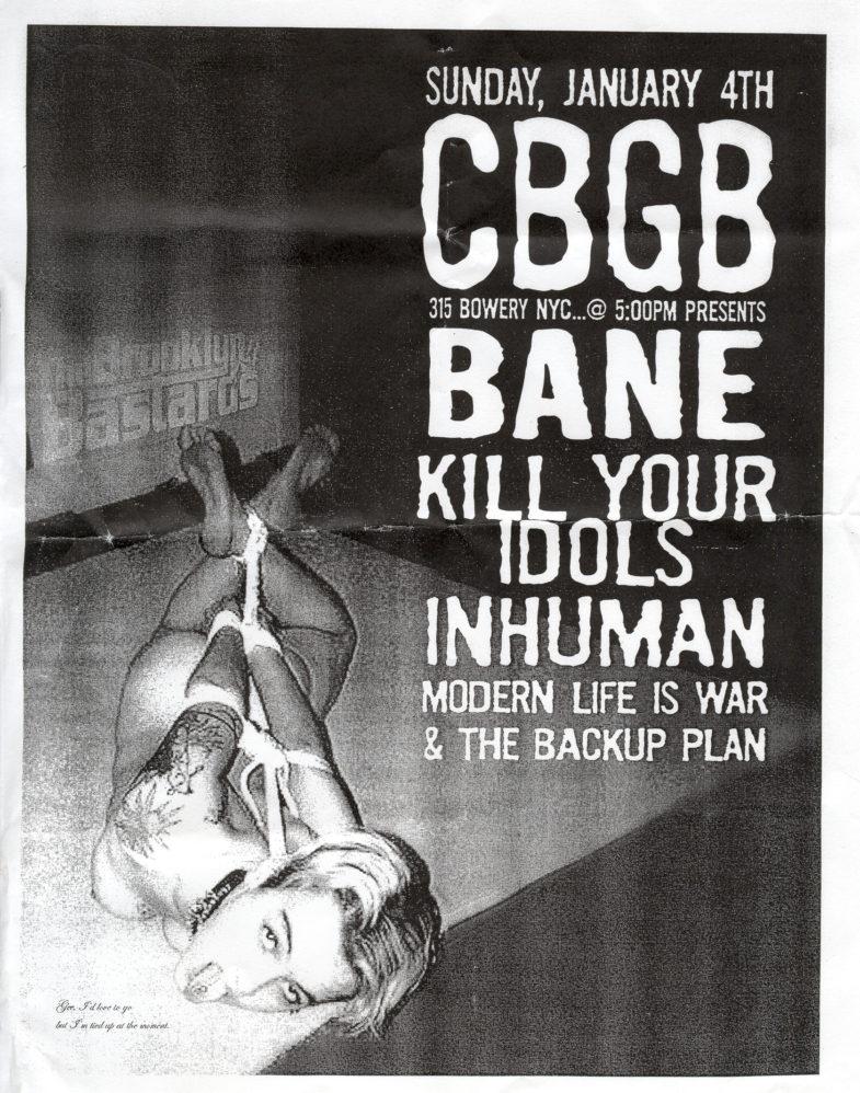 Bane-Modern Life Is War-Etc @ CBGB New York City NY 1-4-04