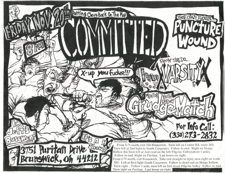Committed-Varsity-Grudge Match-Puncture Wound @ Brunswick OH 11-20-98
