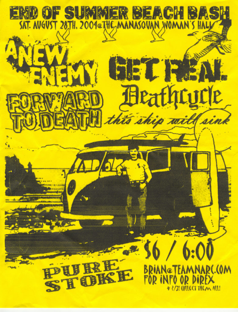 Forward To Death-Get Real-Etc @ Manasquan Woman's Hall Manasquan NJ 8-28-04