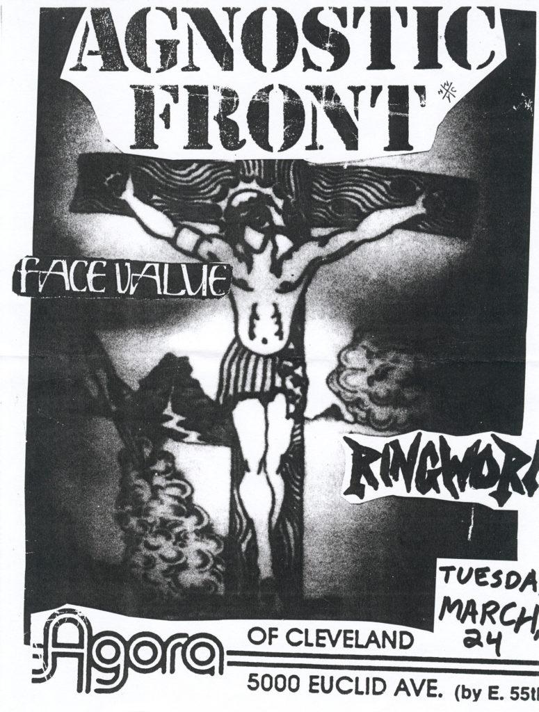 Agnostic Front-Face Value-Ringworm @ Agora Cleveland OH 3-24-92
