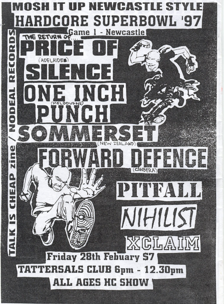 Pitfall-Price Of Silence-XClaim!-Etc @ Tattersals Club Newcastle Australia 2-28-97