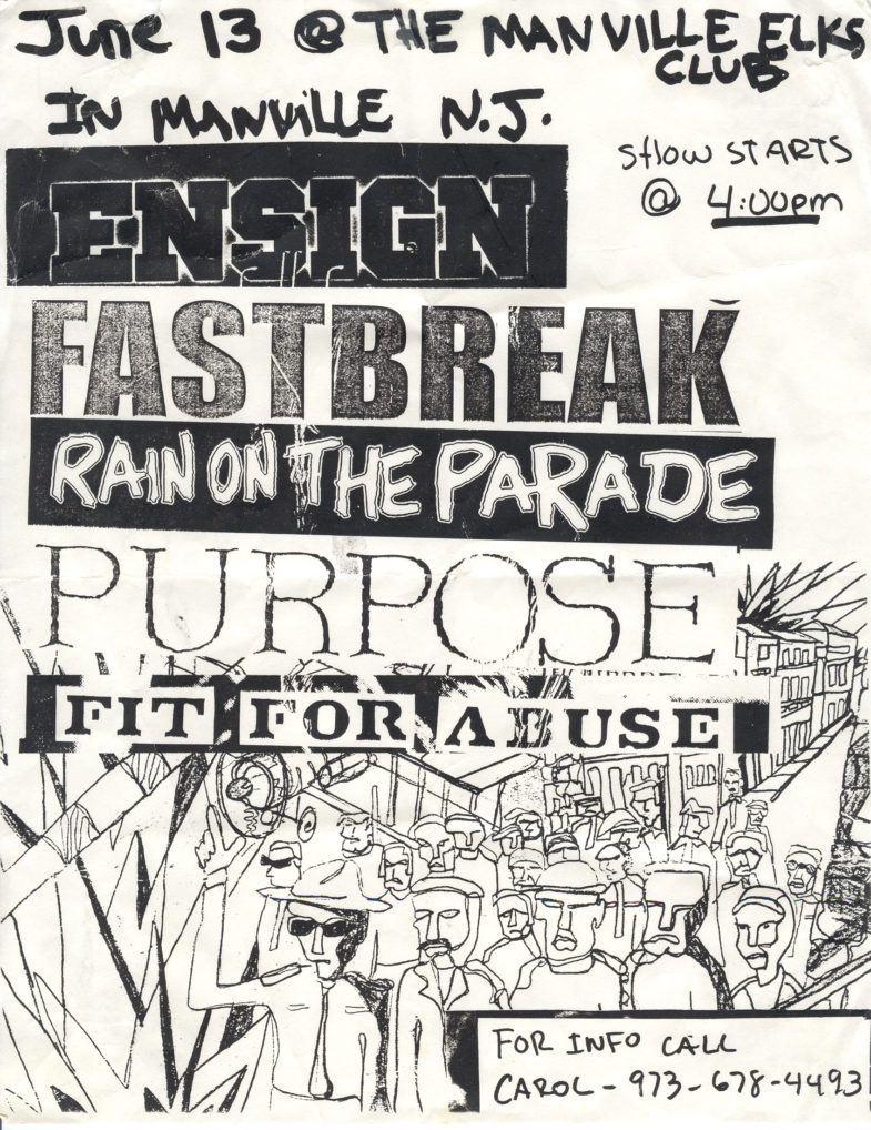 Ensign-Fastbreak-Fit For Abuse-Rain On The Parade-The Purpose @ Manville Elks Lodge Manville NJ 6-13-98