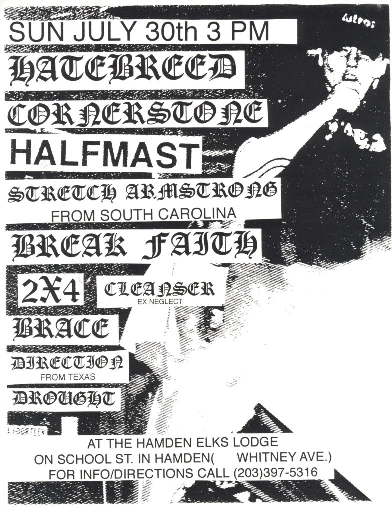 Hatebreed-Cornerstone-Half Mast-Etc @ Hamden Elks Lodge Hamden CT 7-30-95