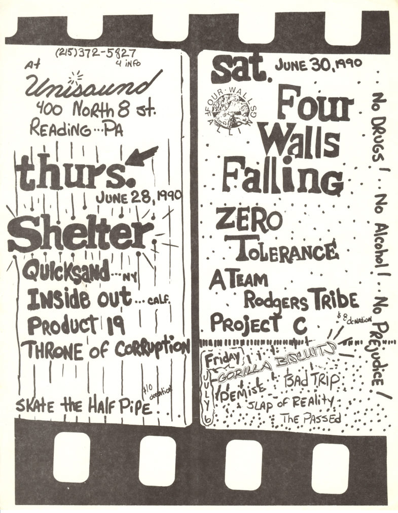 Shelter-Quicksand-Inside Out-Product 19-Throne Of Corruption @ Reading PA 6-28-90
