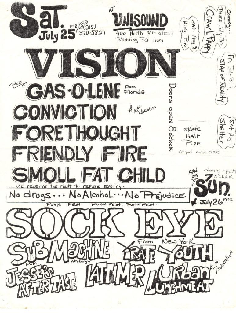 Vision-Friendly Fire-Conviction-Etc @ Unisound Reading PA 7-25-92