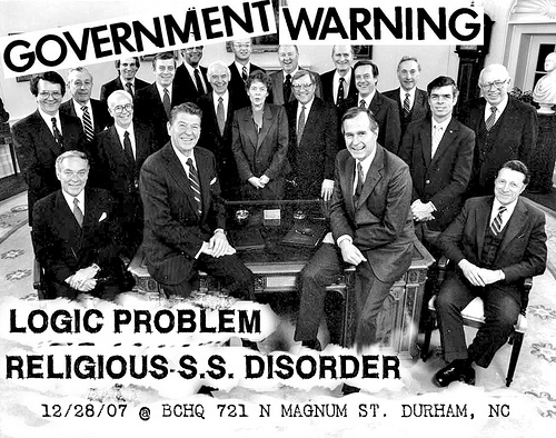 Government Warning-Logic Problem-Religious SS Disorder @ BCHQ Durham NC 12-28-07