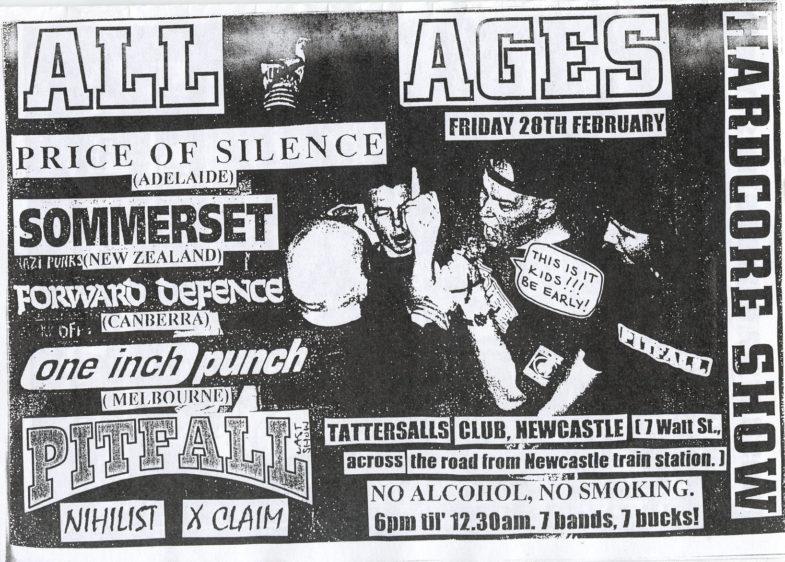 Price Of Silence-Pitfall-Forward Defense-XClaim!-Etc @ Tattersalls Club Newcastle Australia 2-28-97