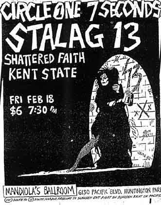 Circle One-7 Seconds-Shattered Faith-Kent State @ Mandiola's Ballroom North Hollywood CA 2-18-83