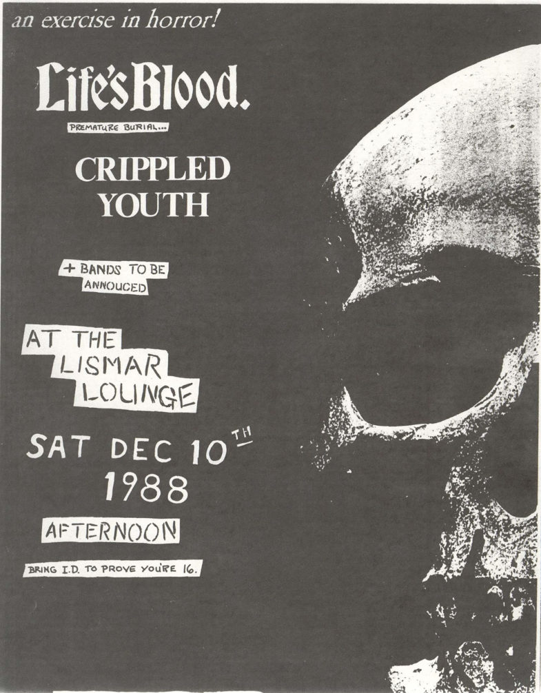 Life's Blood-Crippled Youth @ The Lismar Lounge New York City NY 12-10-88
