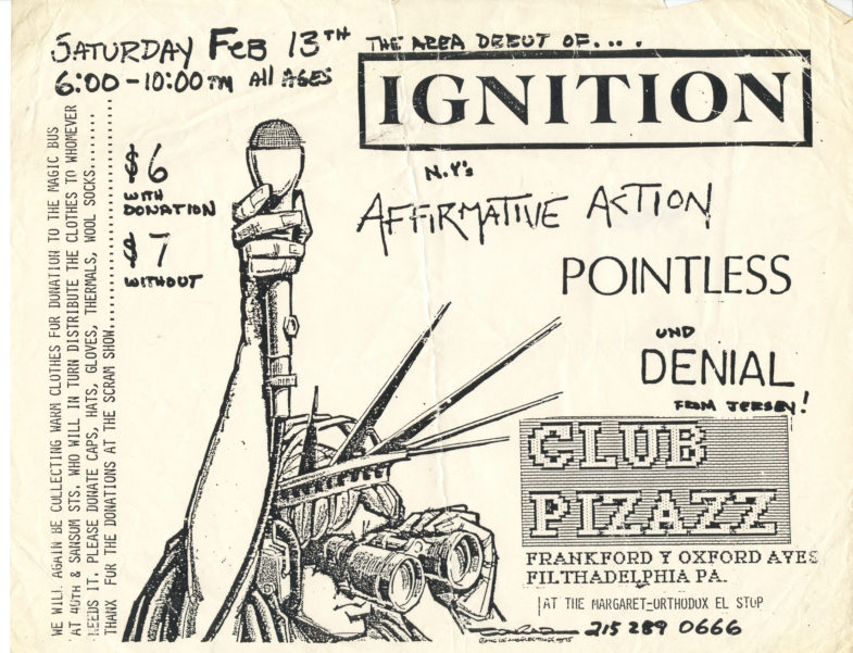 Ignition-Affirmative Action-Pointless-Denial @ Club Pizazz Philadelphia PA 2-13-88