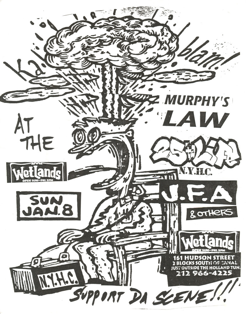J.F.A.-25 Ta Life-Murphy's Law @ Wetlands New York City NY 1-8-95