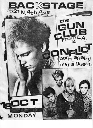 The Gun Club-Conflict @ Backstage Tucson AZ 10-18-82
