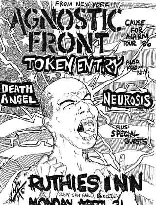 Agnostic Front-Token Entry-Neurosis-Death Angel @ Ruthie's Inn Berkeley CA 4-21-86
