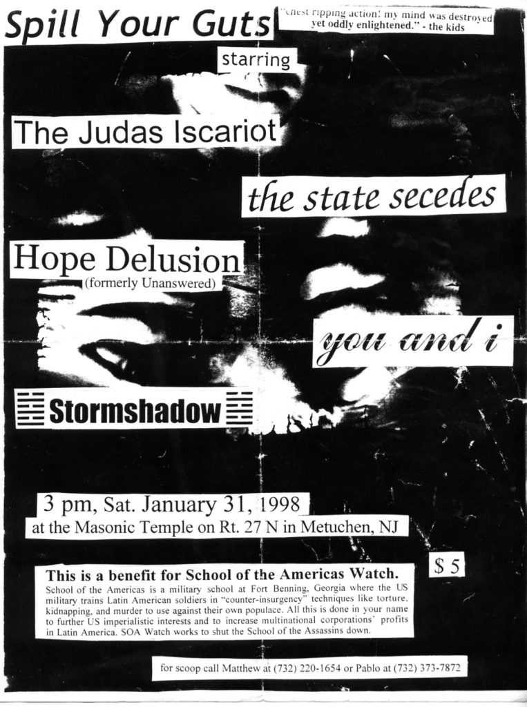 The Judas Iscariot-You & I-The State Secedes-Stormshadow-Hope Delusion @ Masonic Temple Metuchen NJ 1-31-98