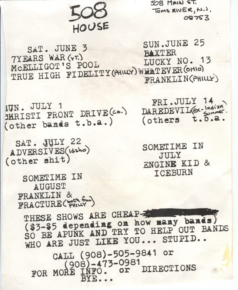 Summer 1995 @ 508 House Toms River NJ