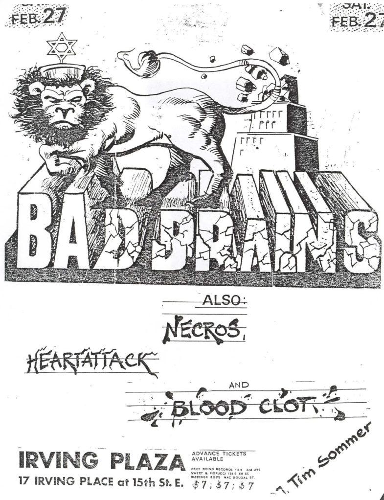 Bad Brains-Heart Attack-Necros-Bloodclot @ Irving Plaza New York City NY 2-2-82