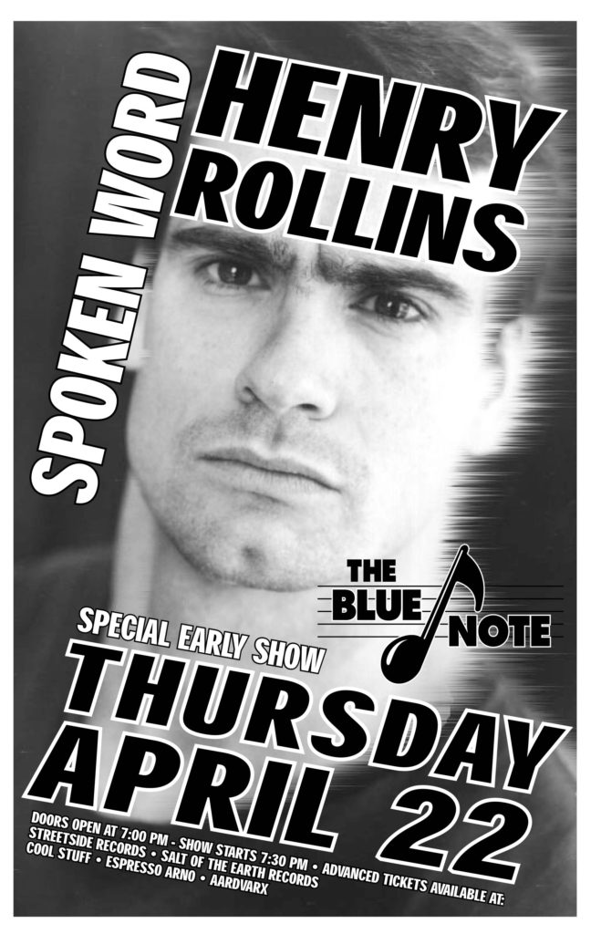Henry Rollins @ The Blue Note Columbia MO 4-22-93