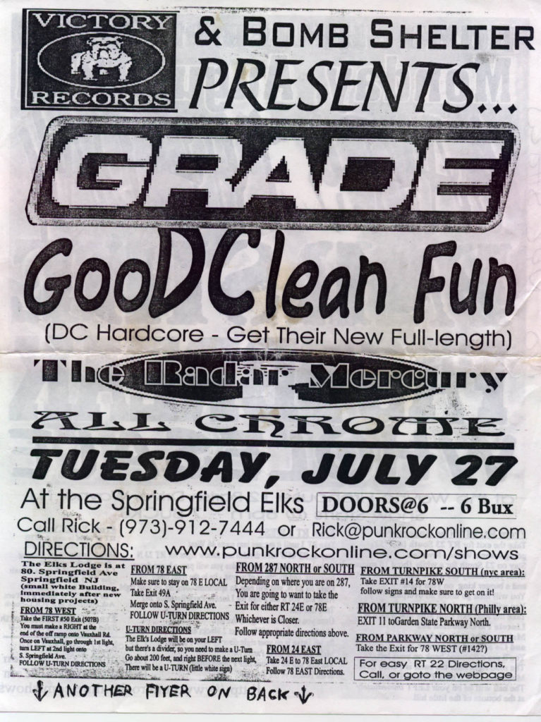 Grade-Good Clean Fun-The Radar Mercury-All Chrome @ Springfield Elks Springfield NJ 7-27-99