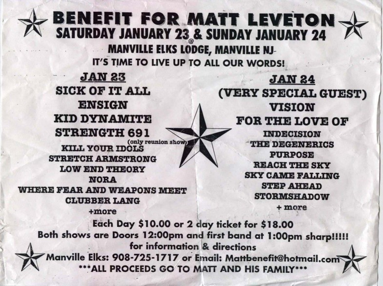 First Annual Matt Leveton Benefit 1999