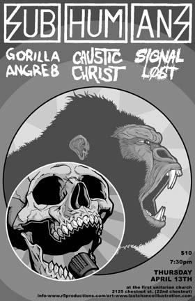 Subhumans-Gorilla Angreb-Signal Lost-Caustic Christ @ First Unitarian Church Philadelphia PA 4-14-05
