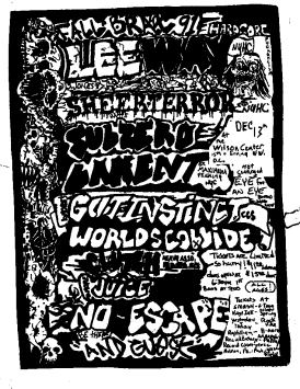 Leeway-Lament-Sheer Terror-Sub Zero-Gut Instinct-Worlds Collide-Clutch-No Escape @ Wilson Center WDC 12-13-91