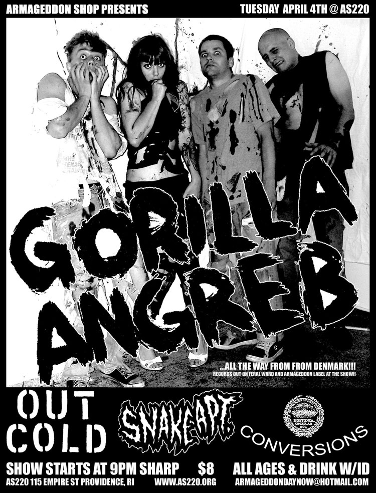 Gorilla Angreb-Out Cold-Snake Apartment-Conversions @ AS220 Providence RI 4-4-06