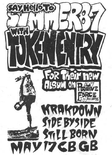 Token Entry-Krakdown-Side By Side-Stillborn @ CBGB New York City NY 5-17-87