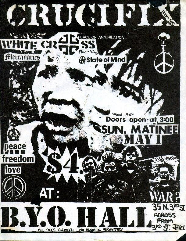 Crucifix-White Cross-State Of Mind-Mercenaries @ BYO Hall Philadelphia PA 5-1-83