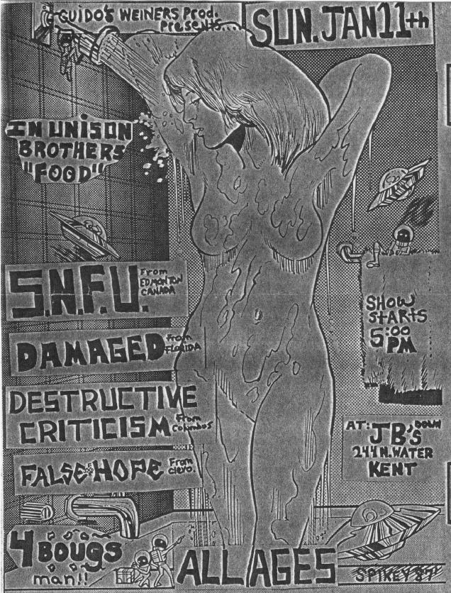 SNFU-Damaged-False Hope-Destructive Criticism @ JB's Kent OH 1-11-87