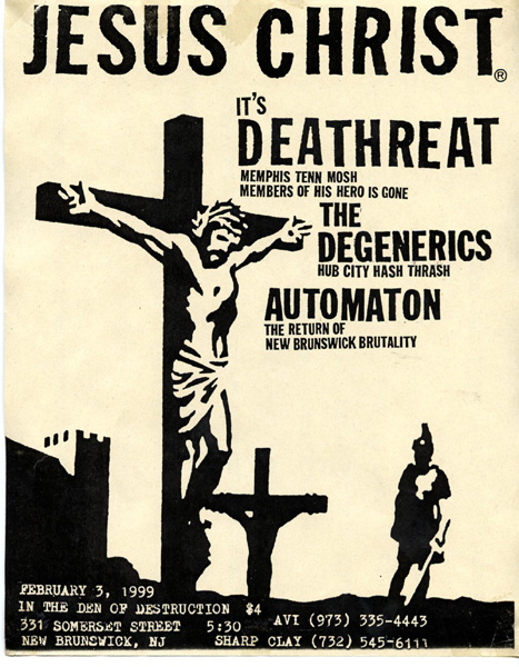 Deathreat-The Degenerics-Automaton @ 331 Somerset St. New Brunswick NJ 2-3-99