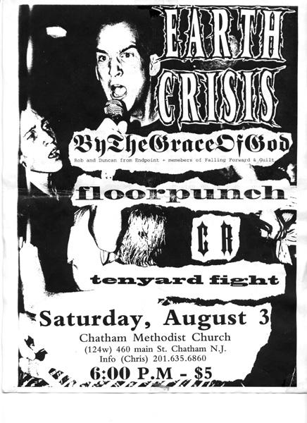 Earth Crisis-By The Grace Of God-Floorpunch-CR-Ten Yard Fight @ Chatam Methodist Church Chatam NJ 8-3-96