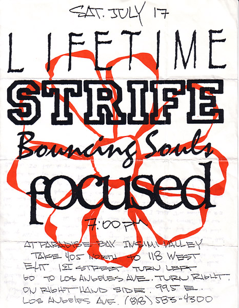 Lifetime-Strife-Bouncing Souls-Focused @ Wetlands New York City NY 7-17-93
