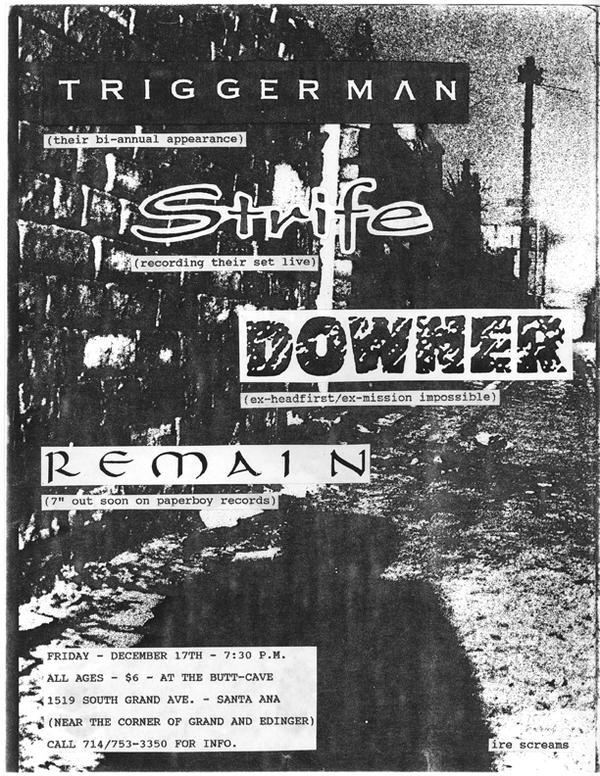 Triggerman-Strife-Downer-Remain @ The Butt Cave Santa Ana CA 12-17-93