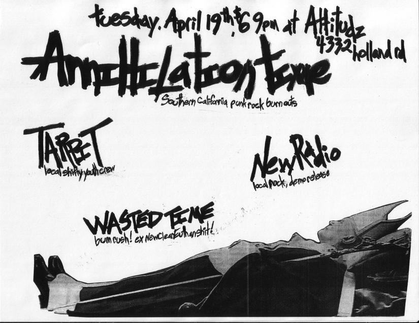 Annihilation Time-Tarpit-New Radio-Wasted Time @ Attitudz Virginia Beach VA 4-19-05