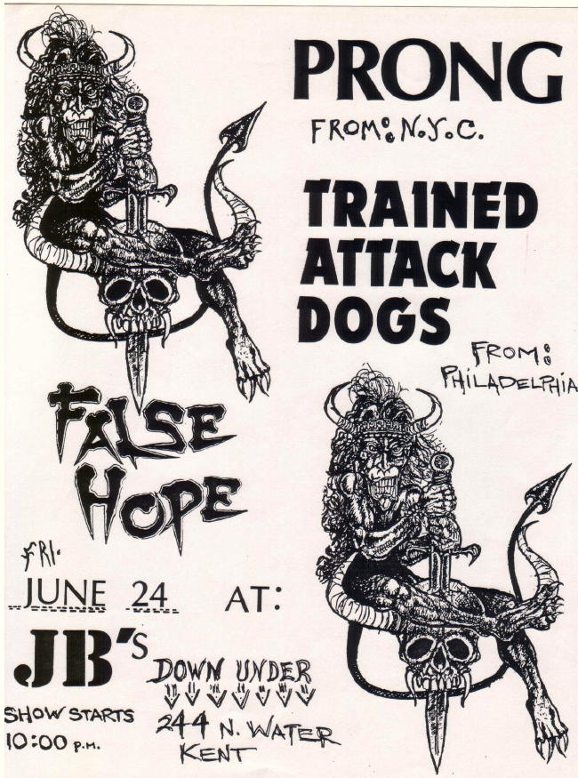 Prong-Trained Attack Dogs-False Hope @ JB's Kent OH 6-24-88