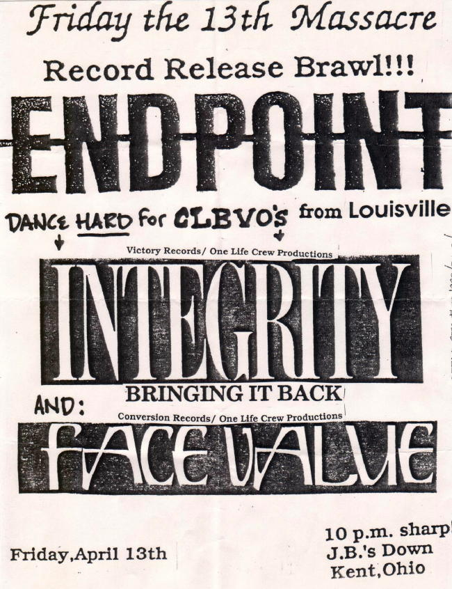 Endpoint-Face Value-Integrity @ JB's Kent OH 4-13-90