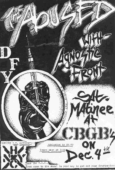 The Abused-Agnostic Front @ CBGB New York City NY 12-4-82
