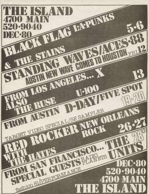 December 1980 @ The Island Los Angeles CA
