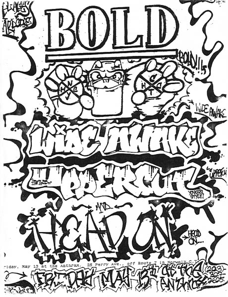 Bold-Wide Awake-Head On-Uppercut @ The Anthrax Norwalk CT 5-13-88