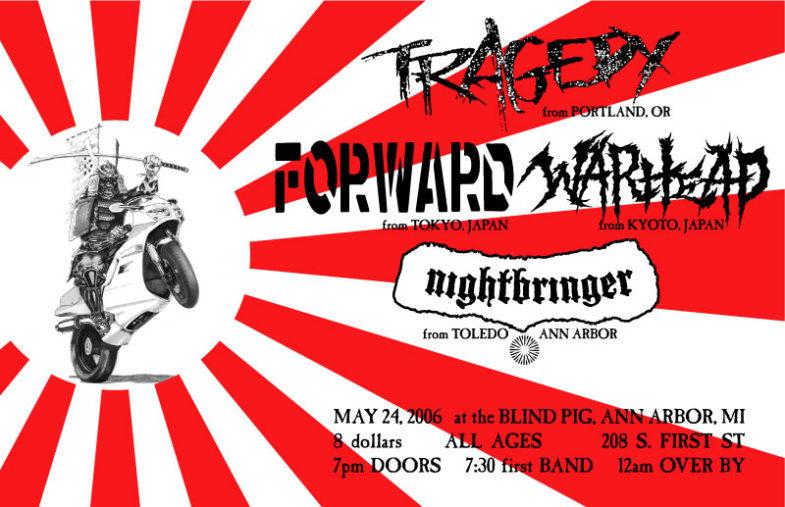 Tragedy-War Head-Forward-Nightbringer @ The Blind Pig Ann Arbor MI 6-24-06